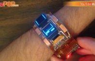 (粵)三錶面智能錶玩俄羅斯方塊