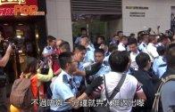 (港聞)押示威者入大廈大堂 警設防線擋記者