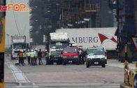 (港聞)貨櫃車被吊升高 司機跳車逃生