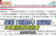 (港聞)葉劉唔醒水被盜財 50萬話咁快追番