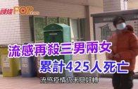 (港聞)流感再殺三男兩女 累計425人死亡