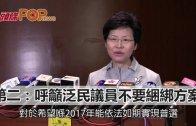 (粵)林鄭籲議員聽民意 默認撬唔走泛民票
