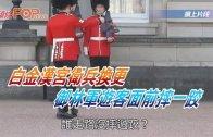 (粵)白金漢宮衛兵換更 御林軍游客面前摔一跤