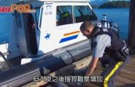 (粵)加國觀鯨船海難 只剩船頭露海面