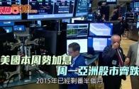 (粵)美國本周勢加息 周一亞洲股市齊跌