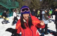 SNOWBOARDING at BIG BEAR!