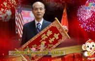 中國駐舊金山總領事羅林泉向灣區市民拜年