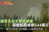 (粵)加拿大山火蔓延減速 保險賠償或逾544億元