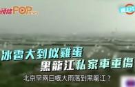 (粵)冰雹大到似雞蛋 黑龍江私家車重傷