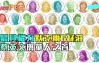(粵)最具權力默克爾6冧莊 蔡英文膺華人之首