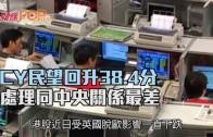 (港聞)CY民望回升38.4分 處理同中央關係最差
