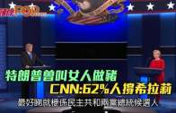 (粵)特朗普曾叫女人做豬  62%人認為希拉莉勝出