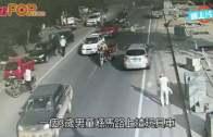 (粵)浙3歲仔揸玩具車  馬路逆線行駛好險