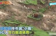(粵)紐國強震牛牛困˝小島˝  熱心人合力掘道拯救