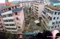 (粵)陝西婦激動跳樓飛身 老公瞬間抓辮保命