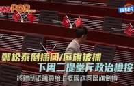 (港聞)鄭松泰倒插國/區旗被捕 下周二提堂斥政治檢控