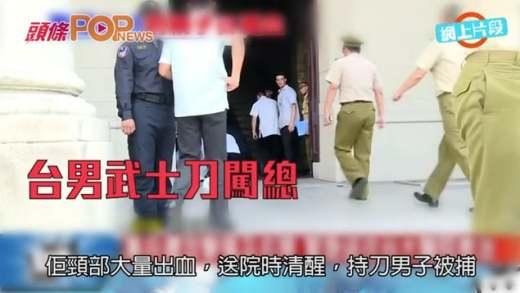 台男武士刀闖總統府  割傷憲兵頸當場被捕