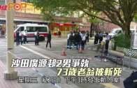 沙田廣源邨2男爭執  73歲老翁被斬死