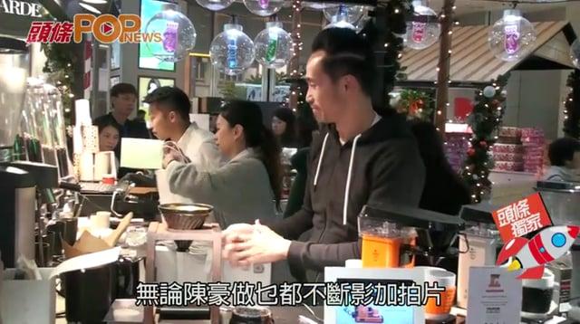 陳豪被Fans圍乜都肯做  咖啡店坐鎮三粒鐘