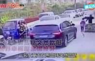 浙女童過馬路突然踎低  越野車輾壓當場慘死