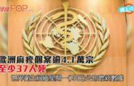 歐洲麻疹個案逾4.1萬宗  至少37人死