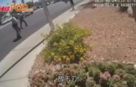 拉斯維加斯男持刀砍人  遭警開槍畫面曝光