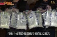 窩打老道拘可疑23歲男  檢330萬毒品