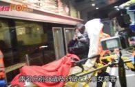 的士紅隧收費亭撞七人車 再炒向石壆三人傷