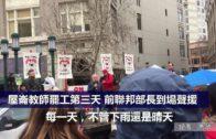 (粵)屋崙教師罷工第三天 前聯邦部長到場聲援