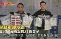 警將軍澳反毒  檢50萬元毒品拘21歲女子