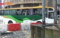 九龍灣城巴旅巴互撼16傷 警拘旅巴司機