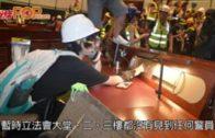 示威者大肆破壞立會設施 塗污議事大堂區徽