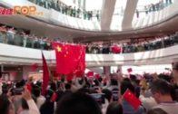 愛國人士IFC商場掛國旗  與市民鬥唱