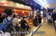 示威者黃大仙疑打開消防栓 水柱湧入港鐵站內