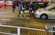 便衣警元朗被擲汽油彈 示威者大腿疑中實彈受傷