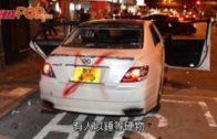私家車旺角疑衝路障 司機捱打頭破血流