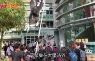 防暴警元朗清場拘一人多次舉起黑旗橙旗警告