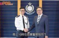 鄧炳強到理大外視察 校方澄清無共識封鎖校園