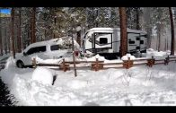 美國華人拖著8000磅重的房車逃到雪山躲避疫情