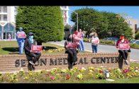 灣區Seton醫院護士抗議防護用品嚴重短缺