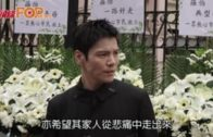 向佐親赴上水悼念羅伯 盼香港減少暴力恢復經濟