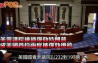 美眾議院通過彈劾特朗普 成美國首位兩度被彈劾總統