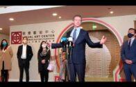 加州州長紐森三藩市華埠舉行記者會譴責仇視亞裔犯罪
