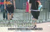 台灣新增555宗本地確診個案 258宗屬「校正回歸」